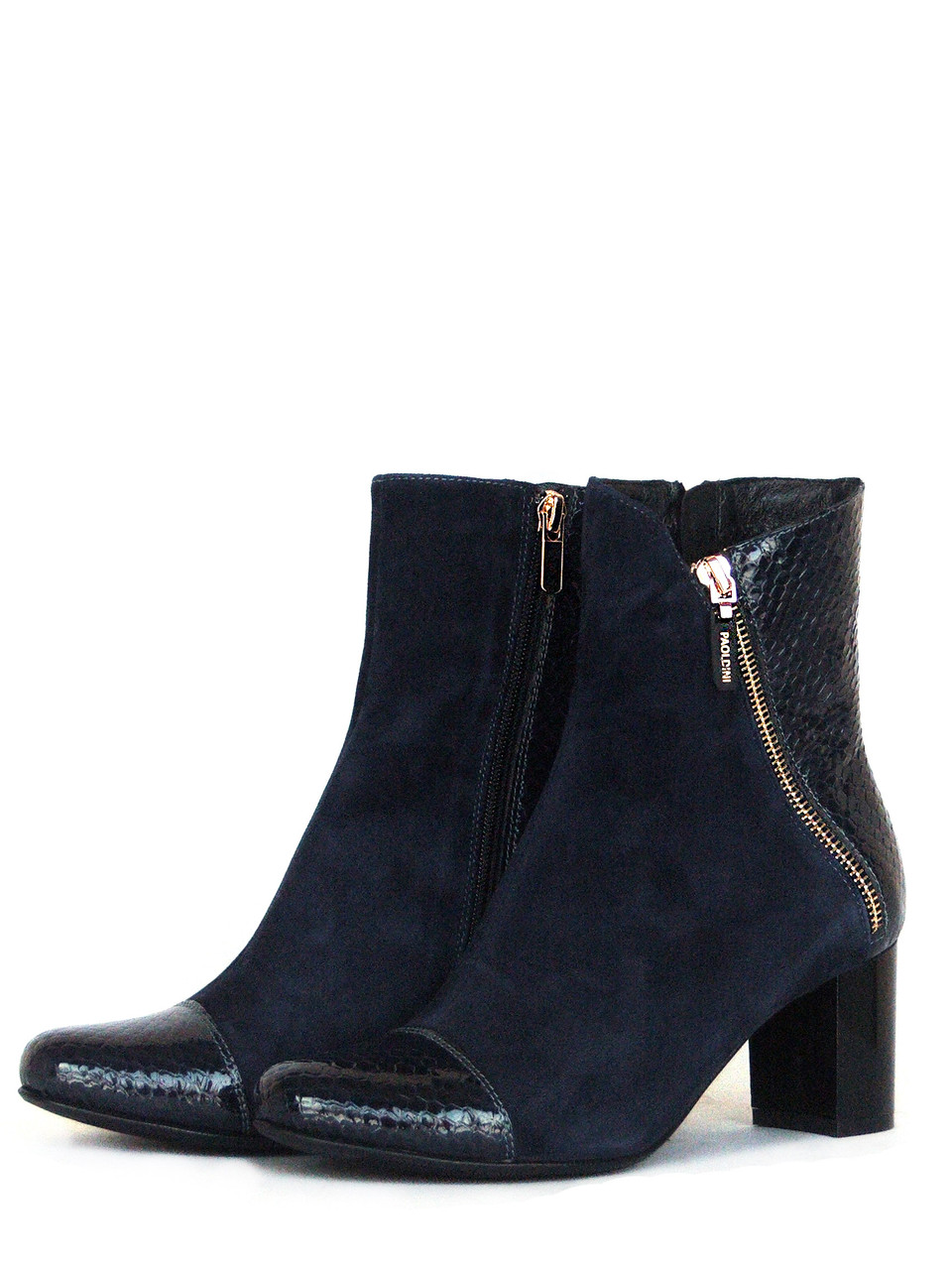 Синие замшевые ботинки