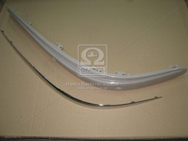 Накладка бампера переднего левая MERCEDES 211 (Мерседес 211) 2002-06 (пр-во TEMPEST)