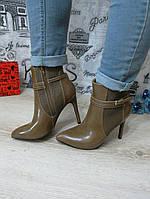 Ботинки демисезонные на каблуке с острым носиком, фото 1