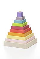 Деревянная пирамидка Cubika 10 деталей