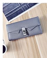 Женский кошелек серый классический
