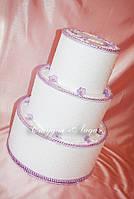 """Бокс для денег и подарков на свадьбу в форме торта """"Каприз"""""""