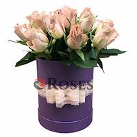 """Цветы в коробке """"Танзания"""" 23 розы"""