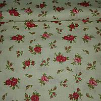 Ткань с мелкими красными и розовыми цветочками, фото 1