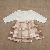 Платье маленькая леди кофейного цвета 74, 80,86
