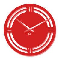 Часы На Стену (35х35см) Classic Красные [Акрил, Открытые]