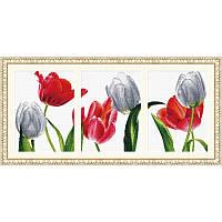 Шесть тюльпанов. Набор для вышивания нитками
