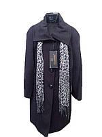Черное женское пальто (батал)