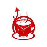 Часы На Стену (45смх32см) Morning Красные [Акрил, Открытые]