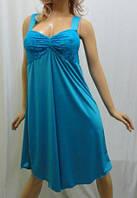 Ночная рубашка женская с красивым лифом 48-56р-р. голубой