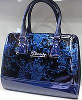 Сумка женская стильная классическая каркасная  Цветы  Fashion 553001-19
