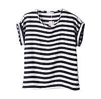 Полосатая шифоновая блузка / футболка