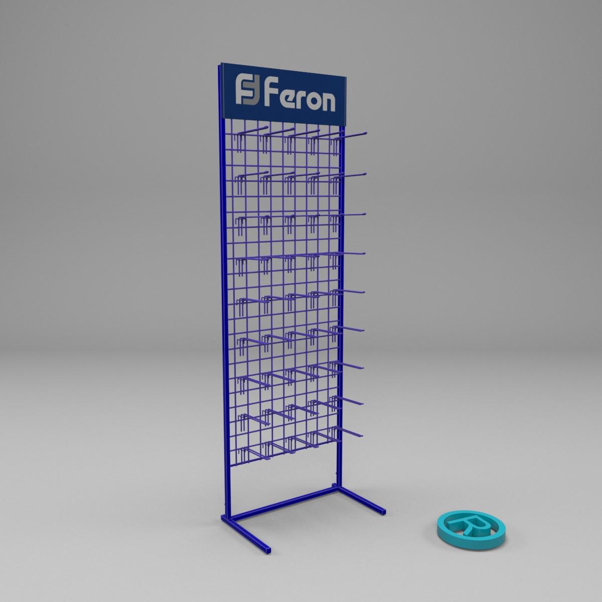 Торговый стенд для лампочек с крючками Ферон