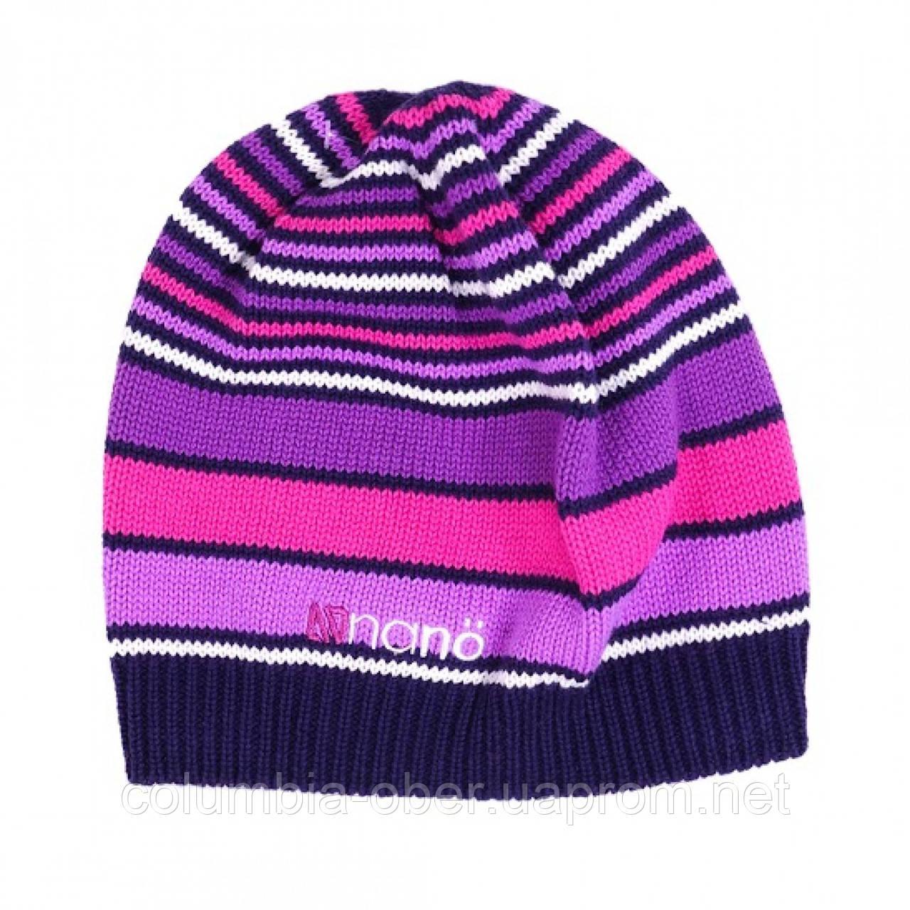 Демисезонная шапка для девочки NANO 202 TUT F16 Purple Haze.  Размеры 2/4Х - 7/12.