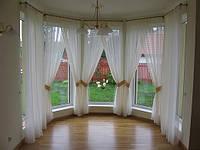 Занавески для эркерного окна