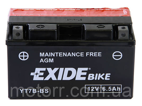 Аккумулятор Exide YT7B-BS