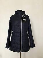 Легкая женская куртка с молнией набок. Большие размеры