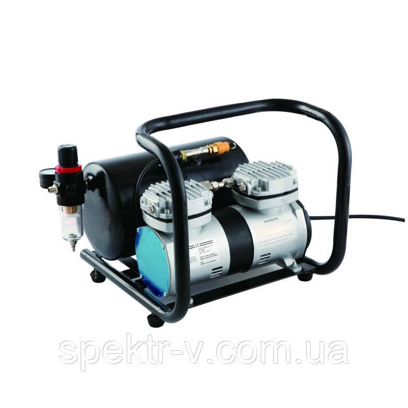 Двухцилиндровый компрессор с ресивером
