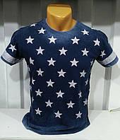 Детская футболка звезды синяя