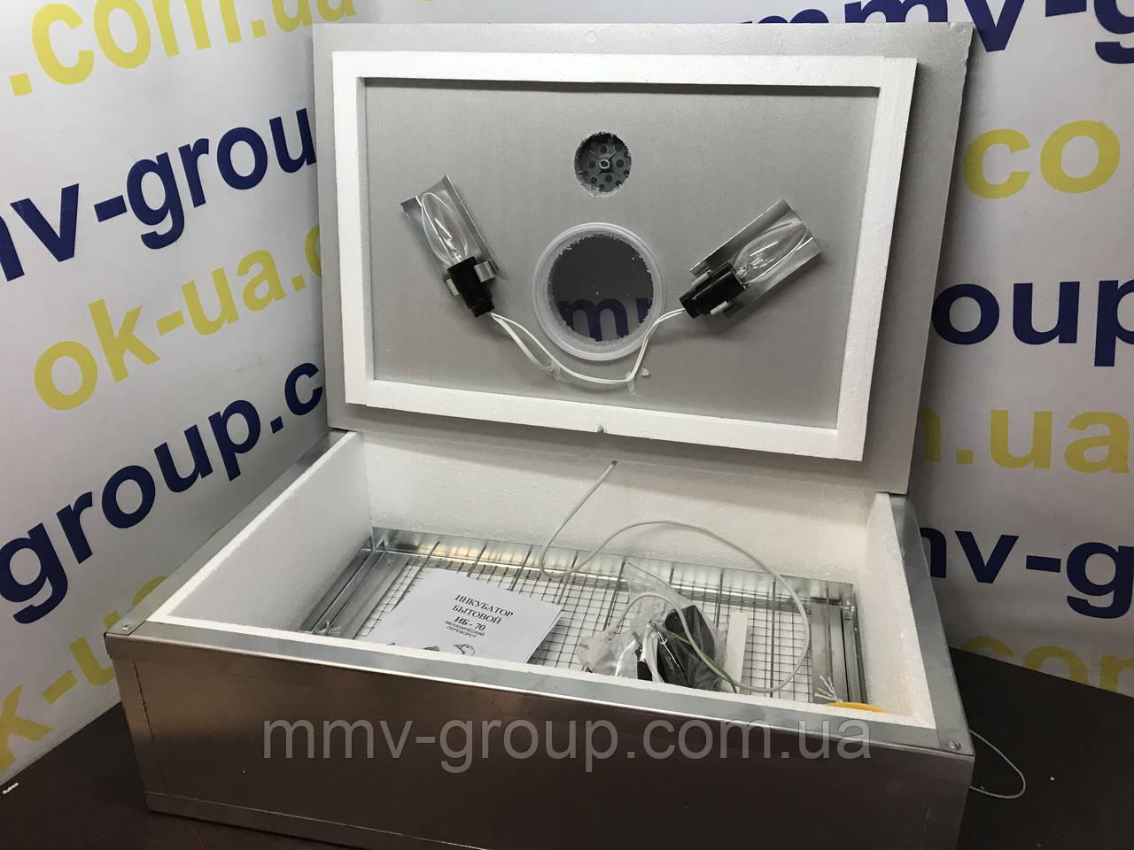 Инкубатор для яиц Наседка ИБ-100 (Метал) , электромеханический регулятор температуры, Мех переворот, 70 яиц