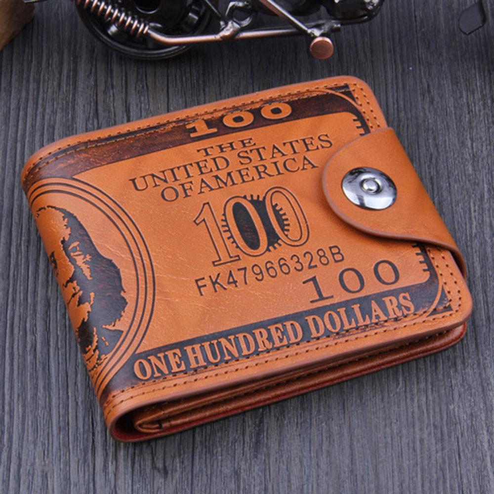 Чоловічий гаманець 100$ Brown MG