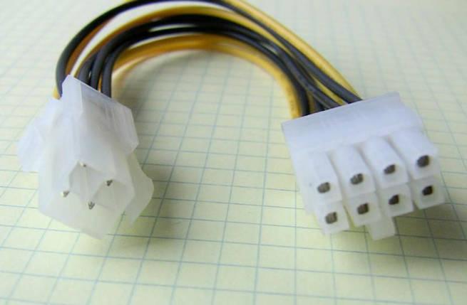 Переходник питания 4pin на 8 pin 25см, фото 2