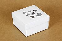 """Коробочка """"Премиум"""" белая М0003-о24, размер: 90*90*50мм, фото 1"""