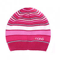 Демисезонная шапка для девочки NANO 202 TUT F16 Bright Coraline.  Размер 2/4Х - 7/12.