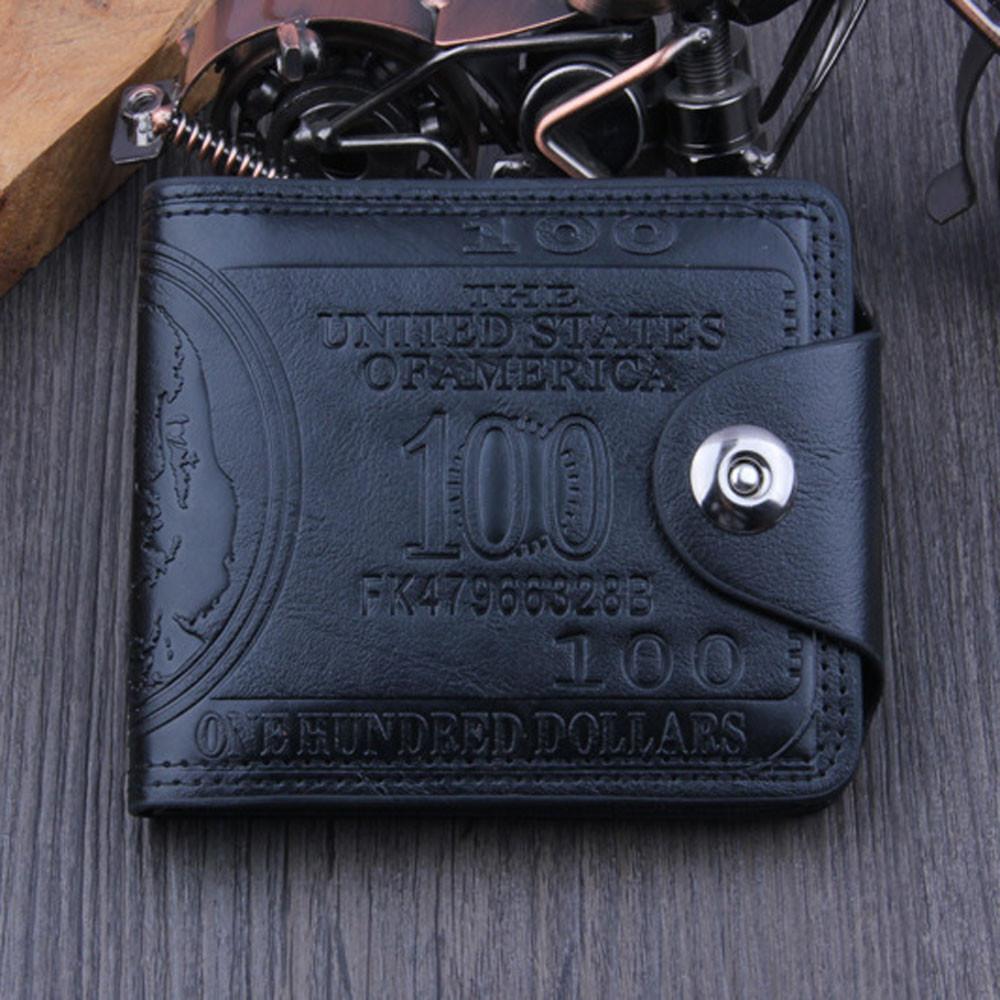 Мужской кошелек 100$ Black