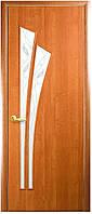 Дверь МОДЕРН ЛИЛИЯ покрытие: экошпон, ПВХ (стекло сатин с рисунком Р3)