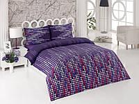 Постельное белье Kristal Matrix фиолетовое евро