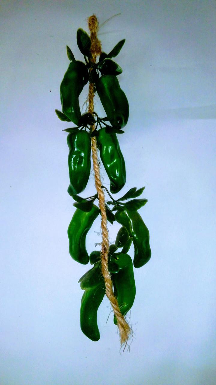 Вязка перца зеленого ,муляж зеленого перца
