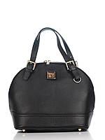 Женская большая сумка из натуральной кожи черная