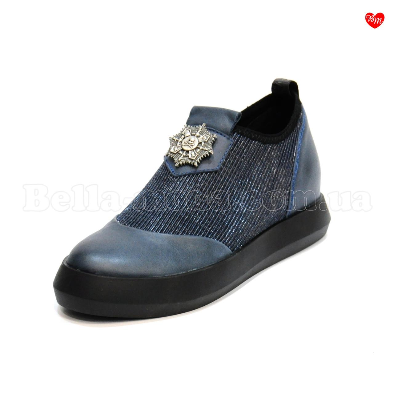 e22f5600e104 Купить Женские слипоны кожаные стрейч значок в розницу от интернет-магазина  ...