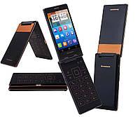 Смартфон-раскладушка  Lenovo A588t Black-Gold