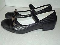 Черные школьные туфли для девочки, р. 35 (22,3 см)