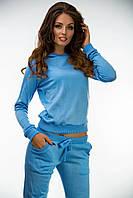 Спортивный костюм голубой трикотажная вязка