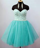Платье-пачка  Мятный ажур