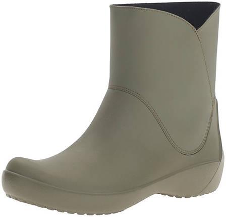 36e2e3f7393d Женские резиновые сапоги Крокс Crocs Women's Rain Floe Army Green Boot  W7(37-38)