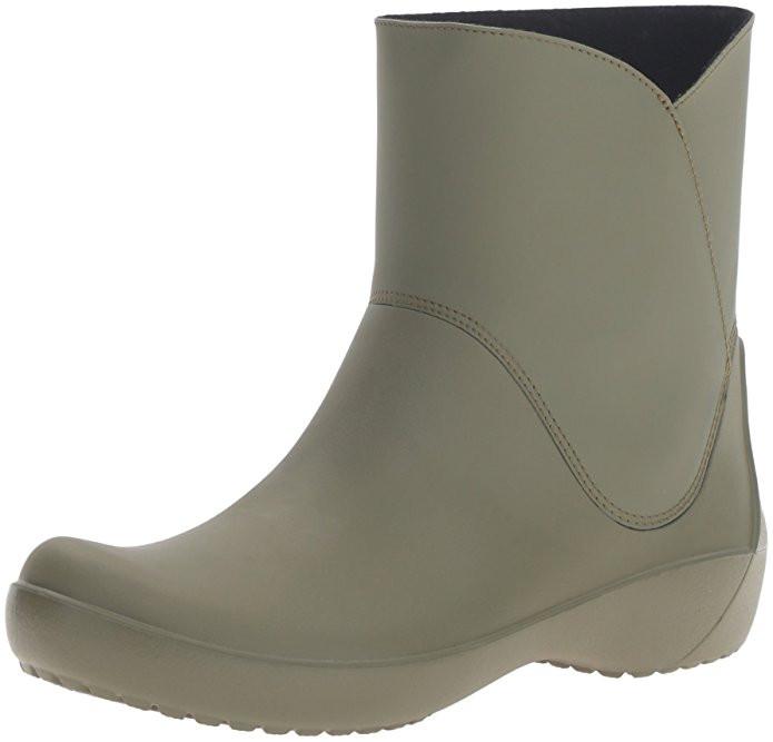 Женские резиновые сапоги Крокс Crocs Women's Rain Floe Army Green Boot W7(37-38)