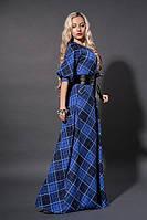Длинное платье с прорезными карманами
