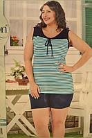 Пижама женска, в полоску (больших размеров)