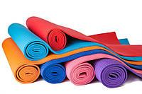 Коврик для йоги (йога мат) с чехлом Green Camp 6 мм