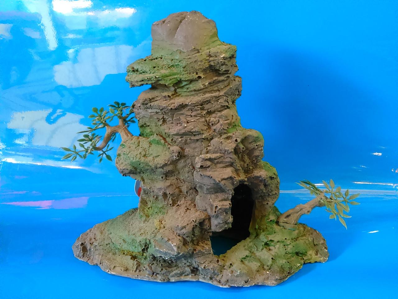 Скала с деревцами KD--042, дл 22см, шир 9,5см, выс 20см