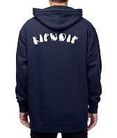 Худи RIPNDIP темно-синее с белым логотипом, унисекс (мужское,женское,детское)