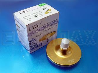 Лампочка LED E27 24W плоская круглая 1202