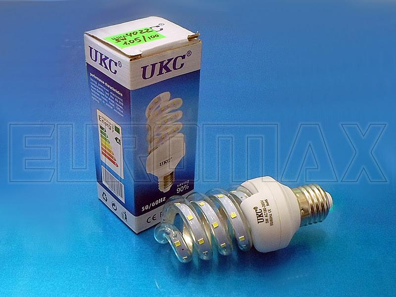 Лампочка LED E27 5W спиральная 4022