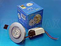 Лампочка LED 3W врезная круглая точечная 1401