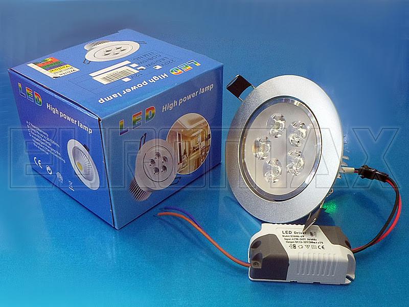 Лампочка LED 5W врезная круглая точечная 1402