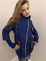 Куртки для девочек со змейкой на косую 1640